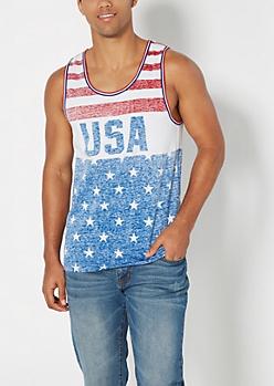 Americana Washed USA Tank Top