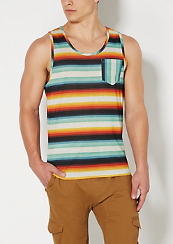 Blue Baja Striped Tank Top