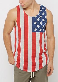Marled Americana Tank Top