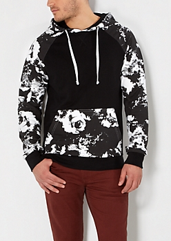 Photo Negative Blocked Hoodie