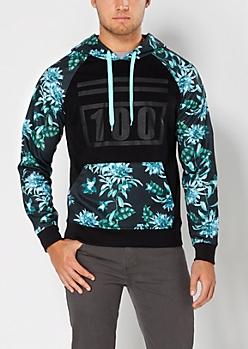 Light Green Tropical Hoodie