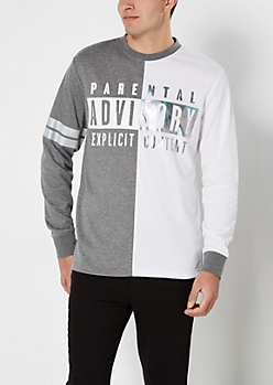 Color Split Parental Advisory Sweatshirt
