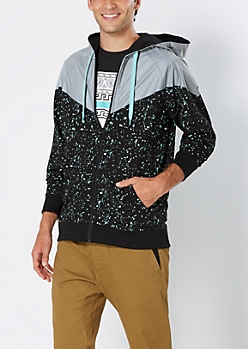 Paint Splatter Reflective Windbreaker