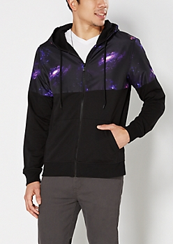 Pieced Galaxy Hooded Jacket