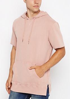 Pink Washed Hoodie Tee