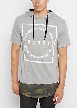 Money on My Mind Camo Hem Hoodie Tee
