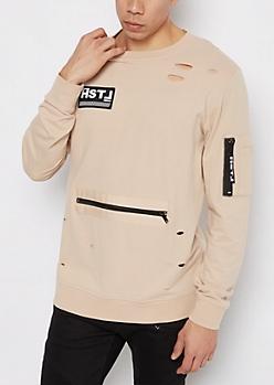 HSTL Distressed Sweatshirt
