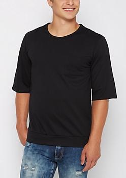 Black Raw Cut Sweatshirt