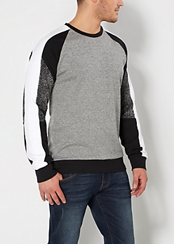 Gray Static Blocked Sweatshirt