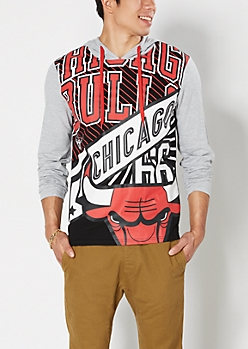 Red Chicago Bulls Courtside Hoodie