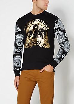 Black Foil Great Seal Sweatshirt