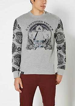 Gray Great Seal Sweatshirt