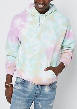 Bright Tie Dye Fleece Hoodie