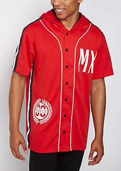 MX Hooded Baseball Jersey Tee