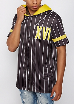 XVI Hooded Baseball Jersey