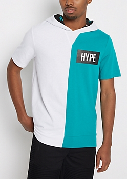 Hype Color Split Hooded Tee