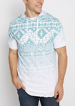 Faded Aztec Hooded Tee