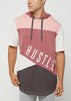 Pink H.U.S.T.L.E. Hooded Tee