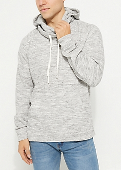 Light Gray Space Dye Fleece Hoodie