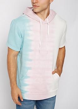 Tie Dye Short Sleeve Hoodie