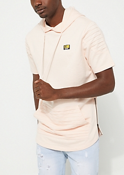 Coral Moto Short Sleeve Hoodie By Caliber