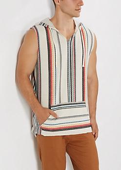 Baja Stripes Terry Hoodie Tank