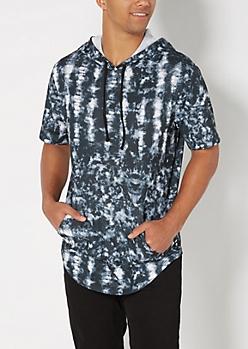 Tie Dye Short Sleeve Sweatshirt