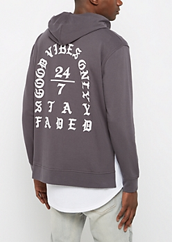 Good Vibes Side Cut Hoodie