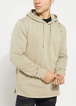 Stone Washed Fleece Hoodie