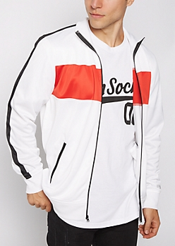 Red Striped Track Jacket