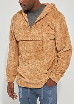 Brown Sherpa Hoodie