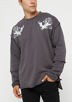 Hustle Eagle Inversed Sweatshirt