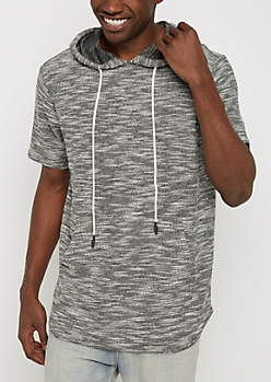 Marled French Terry Hooded Sweatshirt