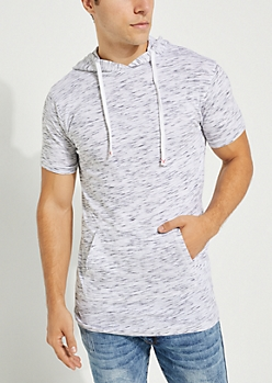 White Space Dyed Short Sleeve Hoodie