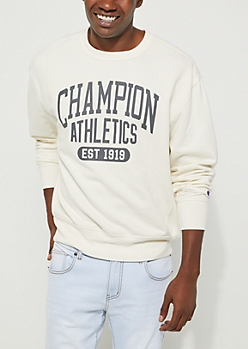 Cream Heritage Fleece Sweatshirt By Champion