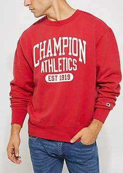 Red Heritage Fleece Sweatshirt By Champion