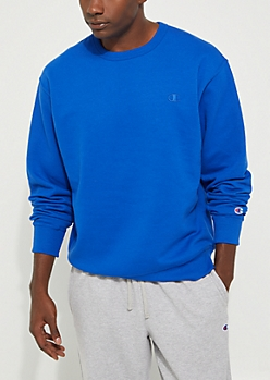 Royal Blue Powerblend Sweatshirt By Champion