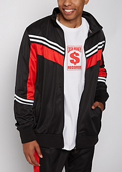 Black Striped Track Jacket