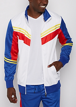 Royal Blue Striped Track Jacket