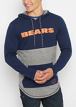 Chicago Bears Color Block Long Length Hoodie