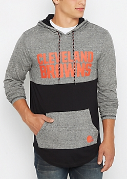 Cleveland Browns Color Block Long Length Hoodie