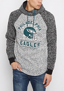 Philadelphia Eagles Marled Raglan Hoodie