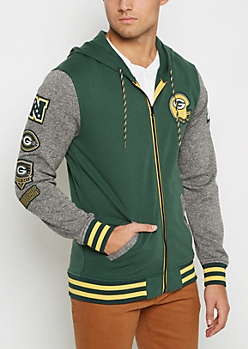 Green Bay Packers Patchwork Hoodie