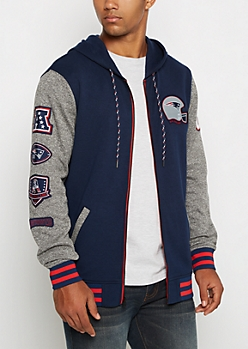 New England Patriots Patchwork Hoodie