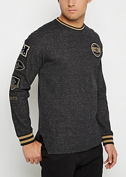 New Orleans Saints Patchwork Long Length Sweatshirt