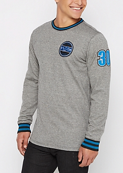 Detroit Lions Patchwork Long Length Sweatshirt