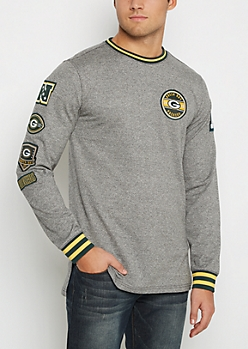 Green Bay Packer Patchwork Long Length Sweatshirt