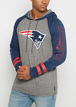 New England Patriots Textured Baseball Hoodie