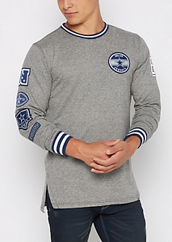 Dallas Cowboys Patchwork Long Length Sweatshirt