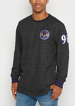 Baltimore Ravens Patchwork Long Length Sweatshirt